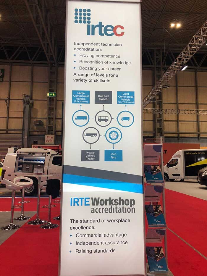 IRTEC pull up banner