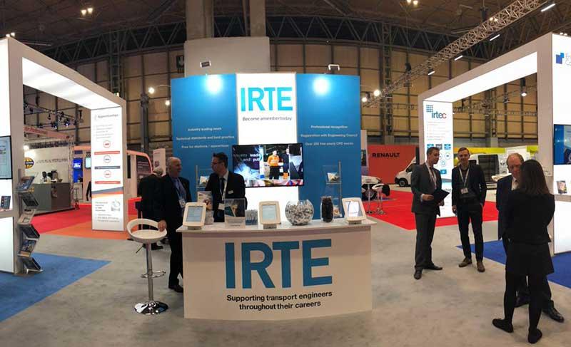 IRTE trade show stand