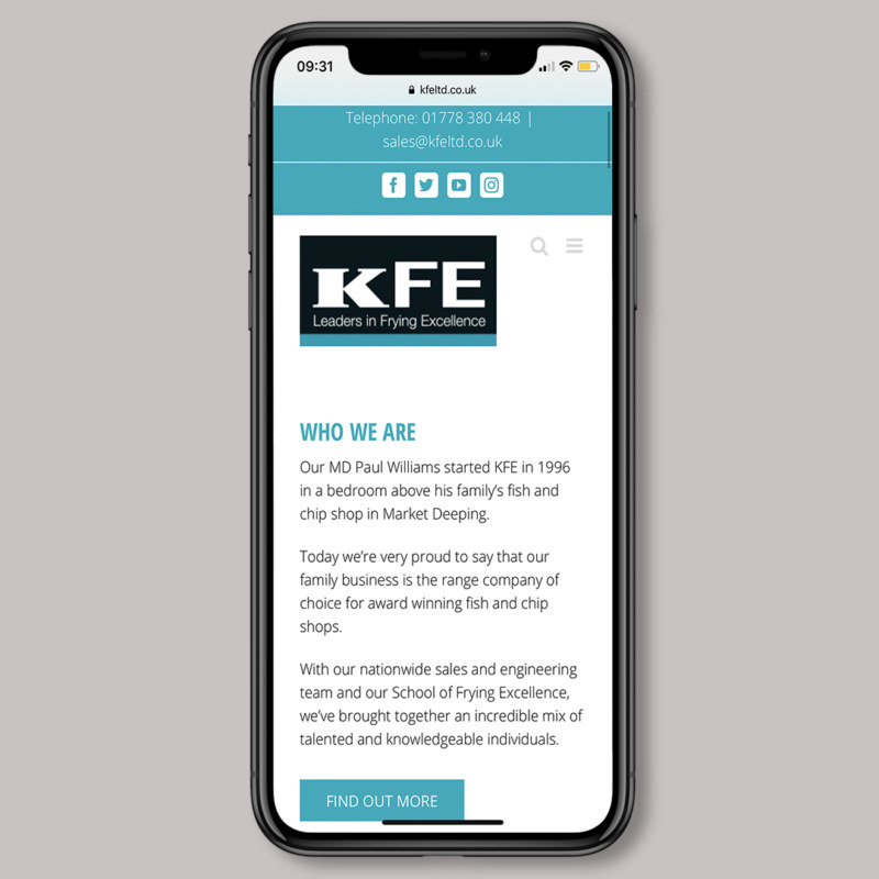 KFE Website Mobile